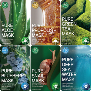 TOSOWOONG Pure Mask Pack 12pcs (2ea of each types)