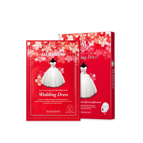 MERBLISS Wedding Dress Ruby Ultra Vitalizing Micro-Fiber Mask 5ea